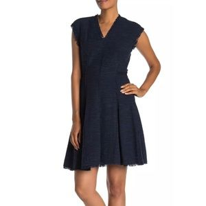 Rebecca Taylor V neck tweed dress